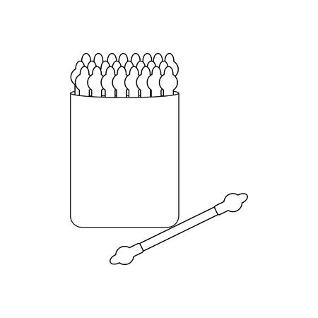 Cotton buds for children on the white background. Vector illustration Foto de archivo - 114948410