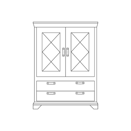 Cupboard cabinet illustration on the white background. Vector illustration