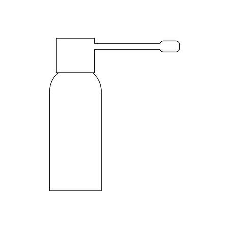 Spray for throat on the white background. Vector illustration