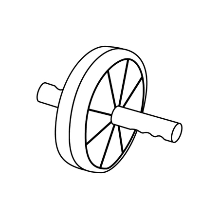 Ab wheel outline on the white background. Vector illustration Ilustrace
