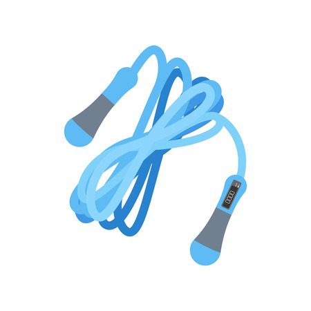 Jump rope with counter on the white background. Vector illustration Ilustrace