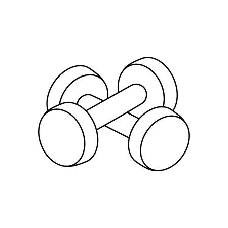 Dumbbells outline on the white background. Vector illustration Illustration