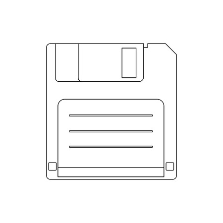 save disk on a white background. Vector illustration