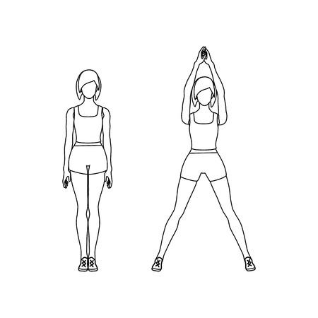 Jumping jacks workout outline