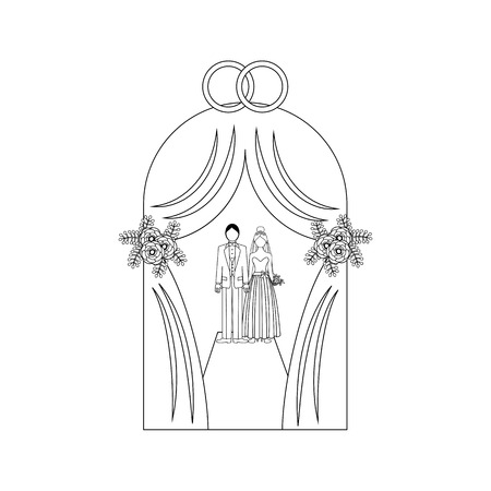 Wedding tent outline on the white background. Vector illustration