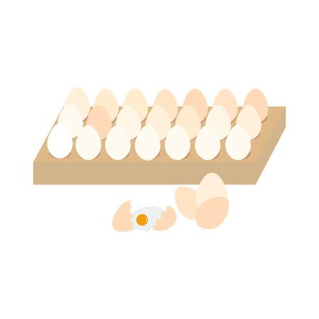 Eggs illustration on the white background. Vector illustration