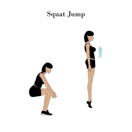 Squat jump exercise