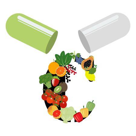 Vitamin C illustration Ilustração