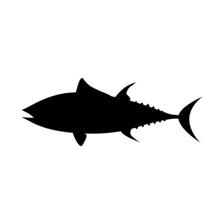 Tuna fish illustration silhouette