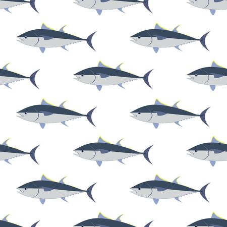 Tuna fish seamless pattern Vettoriali