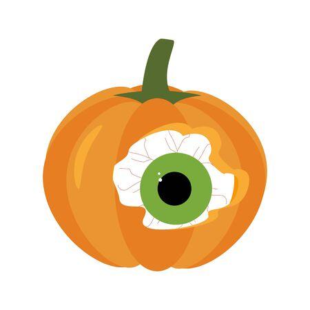 Halloween pumpkin with eye illustration