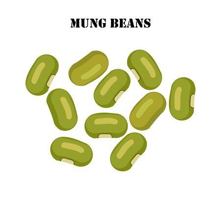 Mung beans illustration on the white background. Vector illustration