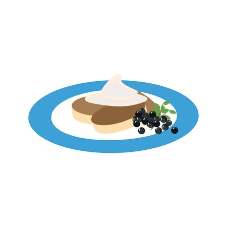 Cottage cheese pancakes  illustration on the white background.