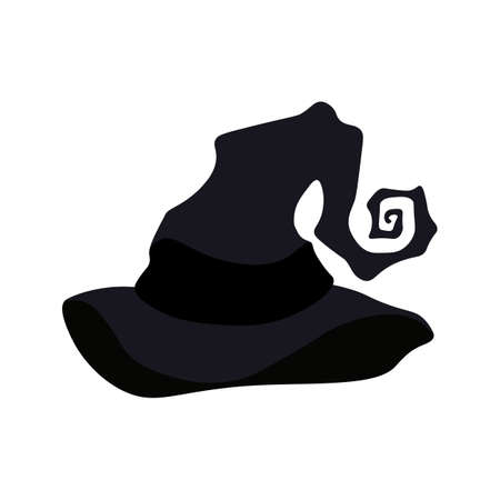 Witch hat illustration on the white background. Vector illustration