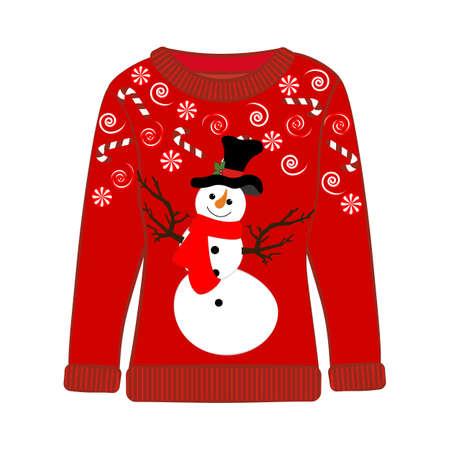 Christmas ugly sweater on the white background. Vector illustration Vektorgrafik
