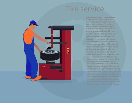 tire: Tire service Illustration