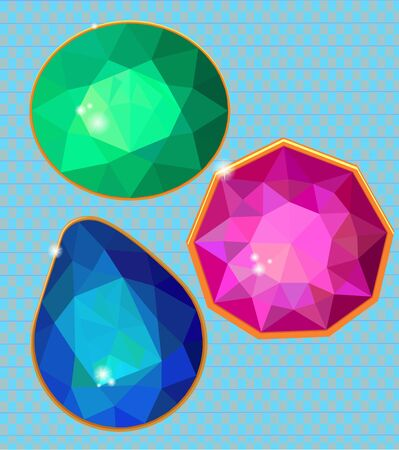neutral background: Bright diamond of the faces on a neutral background