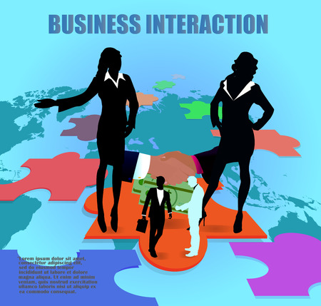 Business. The negotiating process, which leads to the conclusion of the contract Illustration
