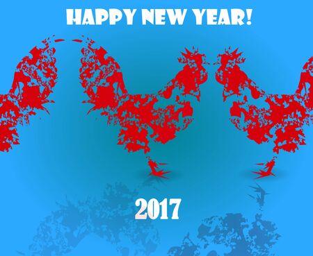 fiery: Year of fiery rooster