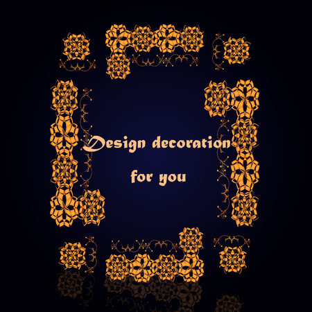 Design decoration for you with golden abstract frame design
