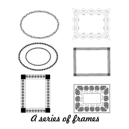 A series of frames design.