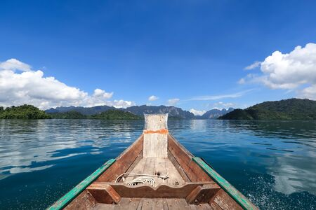 boat view of Rajjaprabha dam at Khao Sok National Park, Surat Thani Province, Thailand from traveler Reklamní fotografie