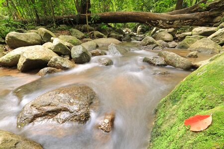 water fall in nature with green trees in Chonburi, Thailand