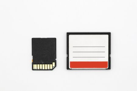 camera memory isolated and white background
