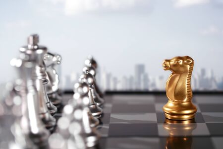 Chess business idea for competition, success and leadership concept 免版税图像