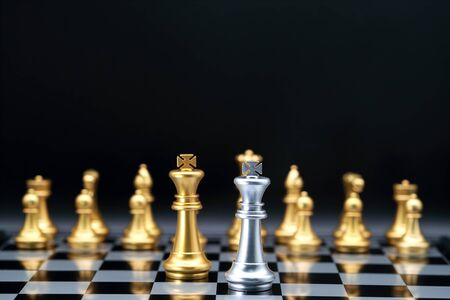 Chess business idea for competition, success and leadership concept Stok Fotoğraf