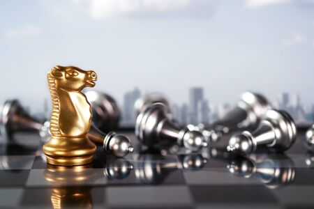 Chess business idea for competition, success and leadership concept Reklamní fotografie