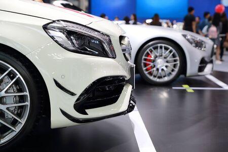 new white sport car Stok Fotoğraf
