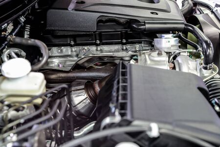 closeup new car engine Stok Fotoğraf
