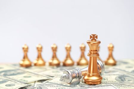 Chess business idea for competition, success and leadership concept 写真素材