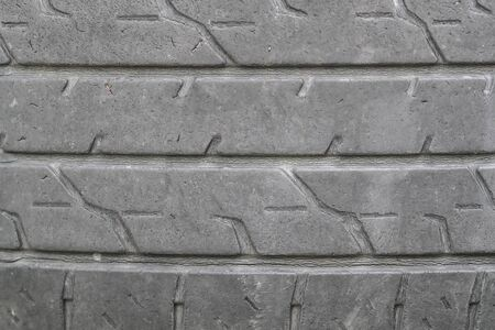 old tire of car background and texture