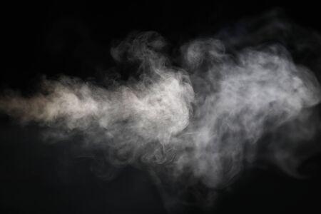 image de fumée sur fond noir Banque d'images