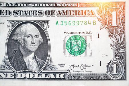 closeup dollars banknote