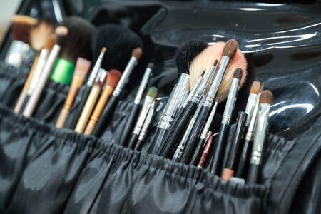 makeup brushes and tools set Stock Photo