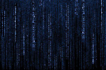 sfondo del codice binario blu del computer