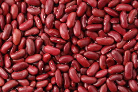 Close up red bean background top view using for your advertising