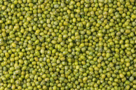 Close up Mung beans or Vigna radiata seeds top view background