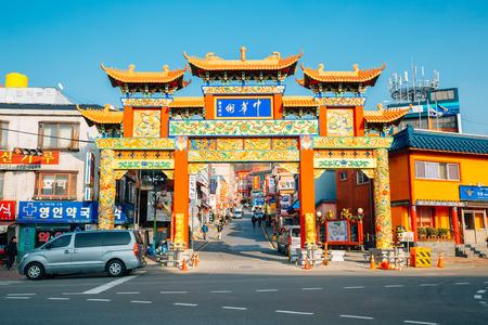 Incheon, Korea - March 14, 2016 : Incheon china town