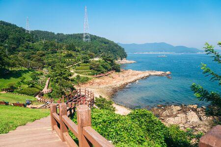 Sea and nature landscape in Tongyeong Yi Sun-sin park, Korea