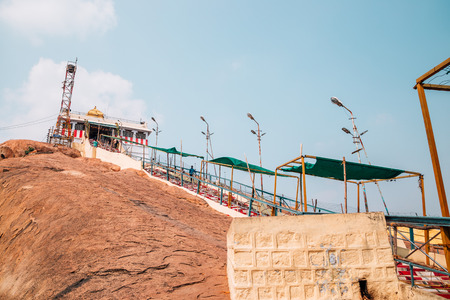 Tiruchirappalli, India - January 4, 2018 : Rockfort, Thayumanaswami temple