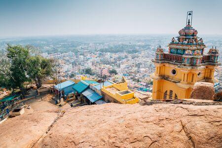 Trichy cityspace from Rockfort, Thayumanaswami temple in Tiruchirappalli, India