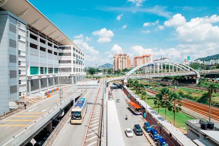 Kuala Lumpur, Malaysia - January 7, 2018 : Bus station TBS Terminal Bersepadu Selatan and Bandar Tasik Selatan Station Editorial