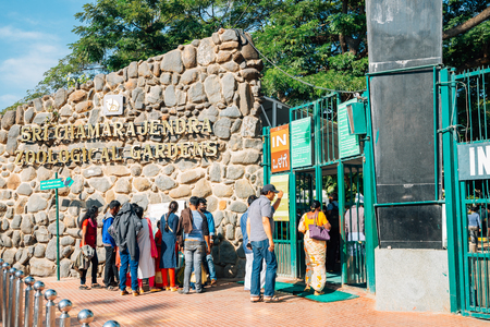 Mysore, India - December 30, 2017 : Mysore Zoo, Sri Chamarajendra Zoological Gardens