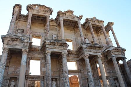 Ephesus Celsus Library ancient ruins in Selcuk, Turkey