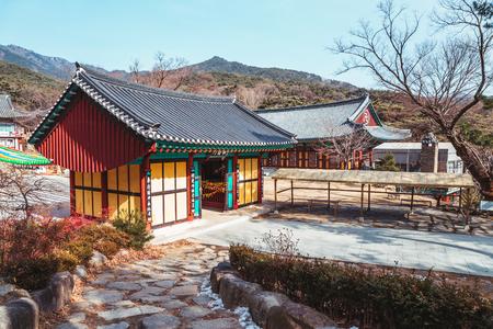 Korean traditional architecture in Donghwasa temple, Daegu, Korea Editöryel
