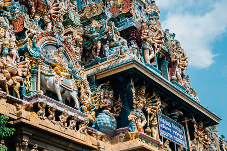 Meenakshi Amman Temple in Madurai, India 免版税图像 - 106081213
